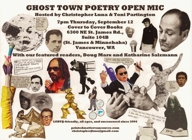 Ghost Town Poetry flyer September 12 2013