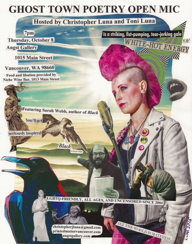 Ghost Town Poetry Flyer October 8 2015