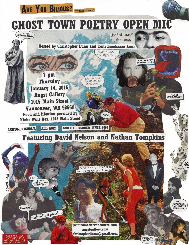 Ghost Town Poetry Flyer January 14 2016