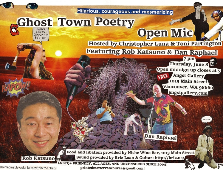 Ghost Town Poetry Open Mic flyer June 8 2017 edit