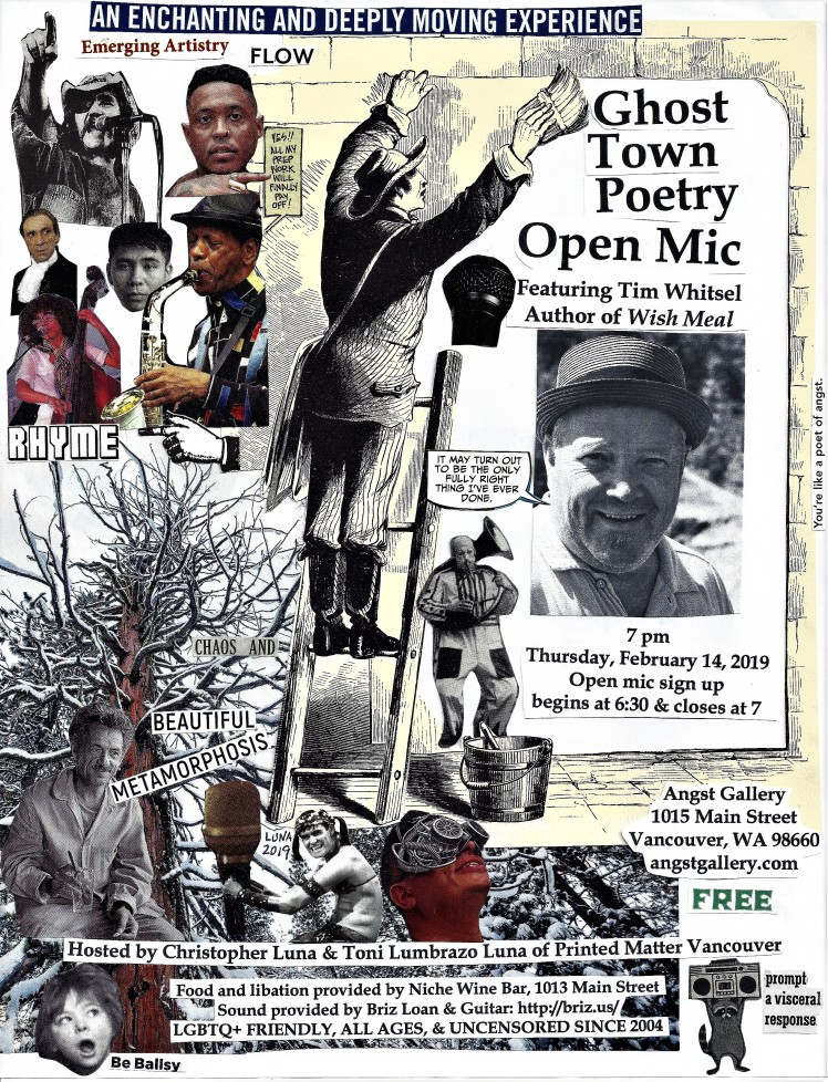 ghost town poetry open mic flyer february 14 2019