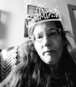 jennifer in crown b&w
