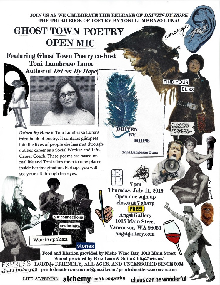 Ghost Town Poetry Open Mic flyer July 11 2019 cropped